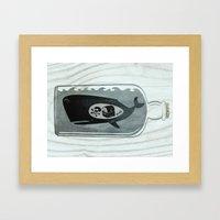 Whale In A Bottle | Trea… Framed Art Print