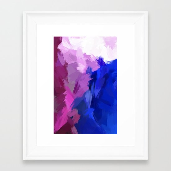 BLOSSOMS - PURPLE Framed Art Print