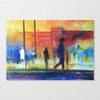 Street scene Canvas Print