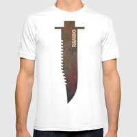 Rambo Mens Fitted Tee White SMALL