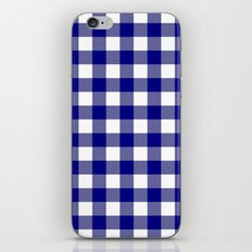 Gingham (Navy Blue/White) iPhone & iPod Skin