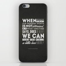 The Fine Art Of Not Being Offended iPhone & iPod Skin