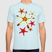 Starfish Mens Fitted Tee Light Blue SMALL