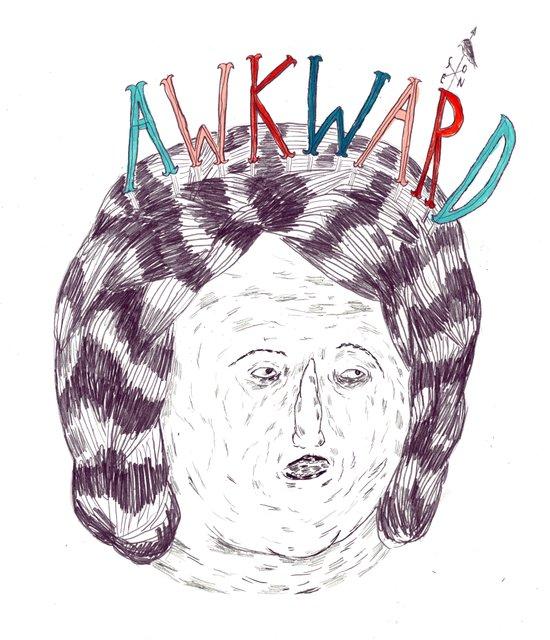 awkward Canvas Print