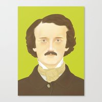 Poe-faced Canvas Print