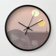 Retro Travel Poster Seri… Wall Clock