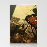 Diorama :: Rhinos Stationery Cards