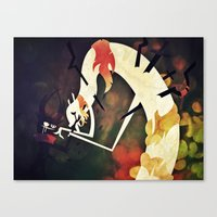 Canvas Print featuring I Hate What I Am by Doc Diventia