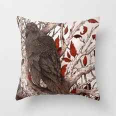 A Raven In Winter Throw Pillow