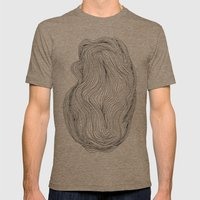 Waves Mens Fitted Tee Tri-Coffee SMALL