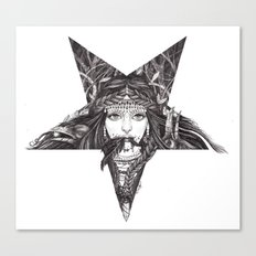 Lady of the Dark Star. Canvas Print