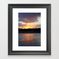 Fire & Ice Framed Art Print