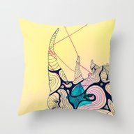 Throw Pillow featuring Rhino Ripples by Gaspart