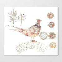 Decorative Pheasant Canvas Print