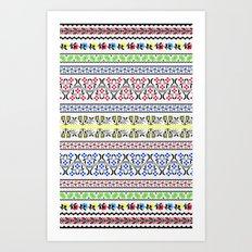 Folk Embroidery Art Print
