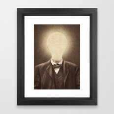The Idea Man  Framed Art Print