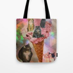 The cat's that got the cream! Tote Bag