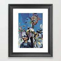 crazy man Framed Art Print