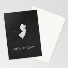 New Jersey State Map Chalk Drawing Stationery Cards