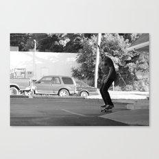 Skateboarding Giraffe Canvas Print
