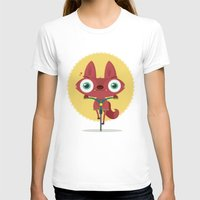 Bicycle Womens Fitted Tee White SMALL
