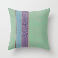 3 Red Lines  Throw Pillow