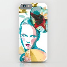 Blue woman, sea and sun iPhone 6 Slim Case