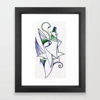 Blue Green Framed Art Print