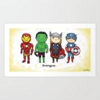 Super Cute Heroes: Aveng… Art Print