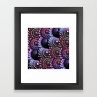 Framed Art Print featuring Jeweled Sea Shells Patte… by Kirsten Star