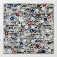 Do The Hokey Pokey (P/D3 Glitch Collage Studies) Canvas Print