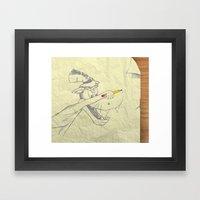 I Am The Bad Wolf And I … Framed Art Print