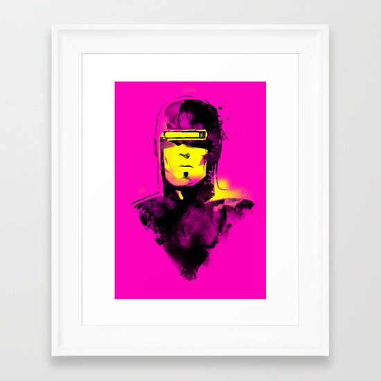 VHS-MAN Framed Art Print