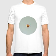 fly with me White Mens Fitted Tee SMALL