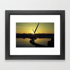 Peace Bridge, Derry.  Framed Art Print
