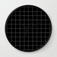 Black Grid /// www.pencilmeinstationery.com Wall Clock