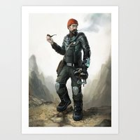 Hollow Earth Explorer Art Print