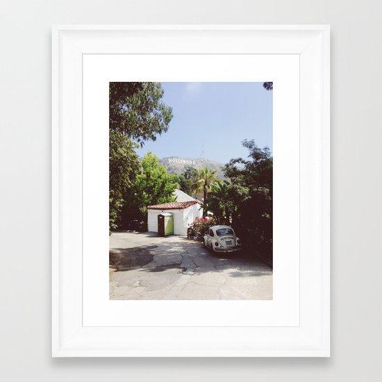 Hollywood, California Framed Art Print