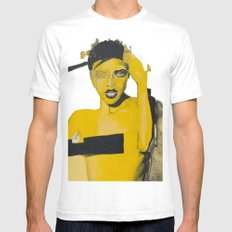 Amarillo SMALL White Mens Fitted Tee