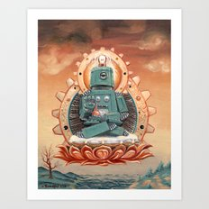 Buddha Bot v6.5 Art Print