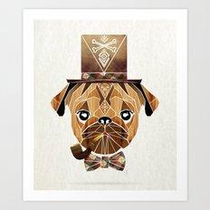 mister pug Art Print