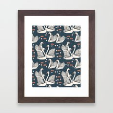 Origami Swans by Andrea Lauren Framed Art Print