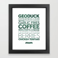 Seattle — Delicious Ci… Framed Art Print