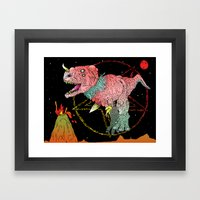 Necro-Dino From Planet Hell Framed Art Print