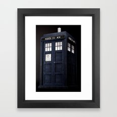 Tardis 3D Framed Art Print