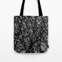 Kerplunk Extended Black and White Tote Bag