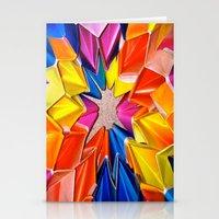 rainbow explosion Stationery Cards