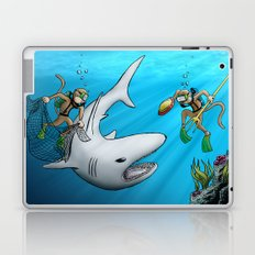 Monkeys Fighting Shark Laptop & iPad Skin