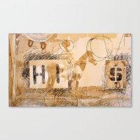 HI dollar Canvas Print