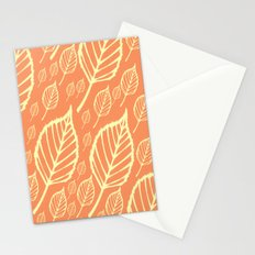 Orange Autumn Leaf Design  Stationery Cards